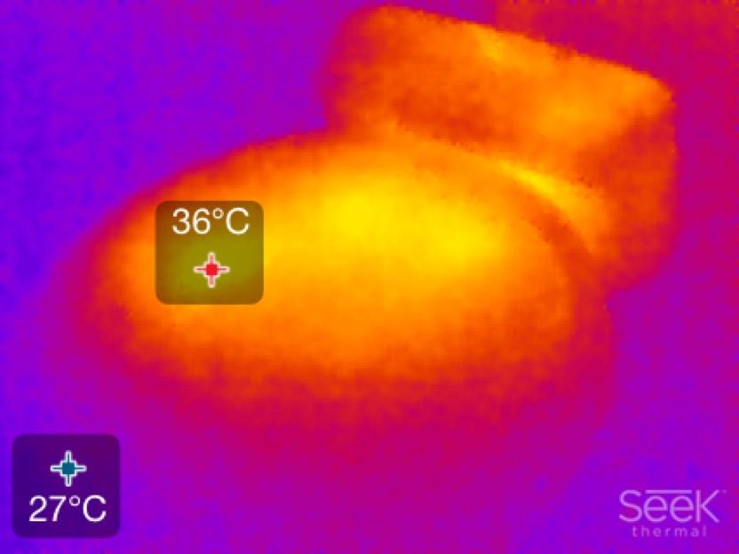 Wärmebild Samsung Staubsaug-Roboter NaviBot SR8950 (Seek Thermal XR)