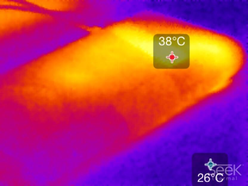 Wämebild Kabelreceiver DIGIT DIKA1 von TechniSat (Seek Thermal XR)