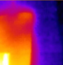 Detail des Wärmebild-Originals mit Seek Thermal XR