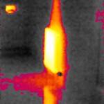 Temperaturschwellwert an Heizkörper Wärmebild mit Seek Thermal XR