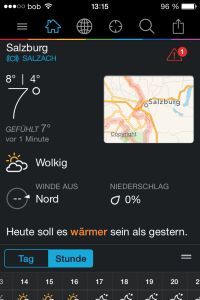 WeatherUnderground am iPhone